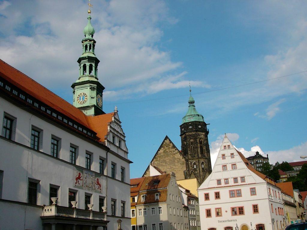 Pirna mit Rathaus